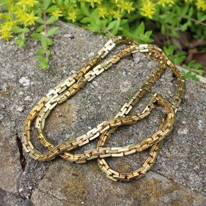 Chunky Gold Worn Chain Link Monet Bling Drip
